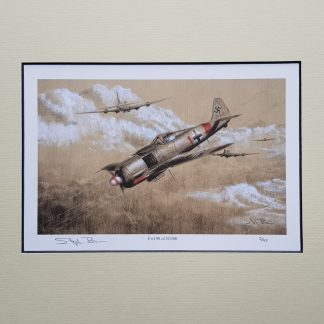 FW 190 of JG 300 Pencil print Drawing Stephen Brown