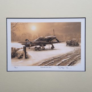 Hurricane in the Snow (Stephen Brown Aviation Artist)